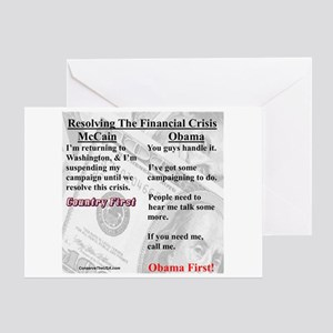 """Financial Crisis"" Greeting Card"