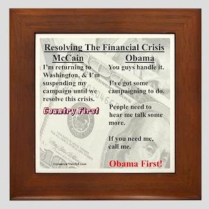 """""""Financial Crisis"""" Framed Tile"""
