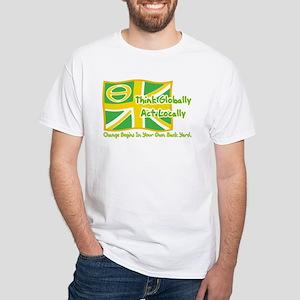 Ecology Union Jack White T-Shirt