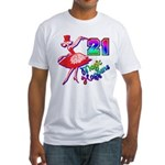 21st Birthday Fitted T-Shirt