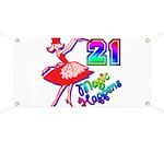 21st Birthday Banner