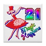 21st Birthday Party Favors! Tile Coaster