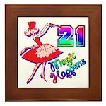 21st Birthday Party Favors! Framed Tile