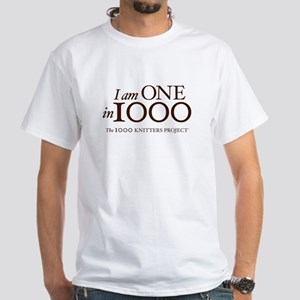 One in 1000 (Version 3) White T-Shirt