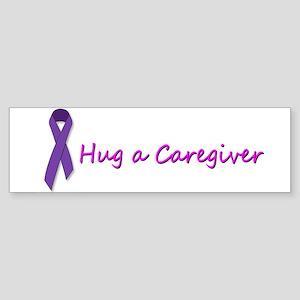 Hug a Cargiver Bumper Sticker