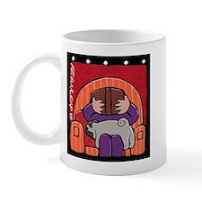 Pug Supports Reading Mug
