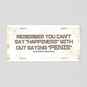 Happy Aluminum License Plate