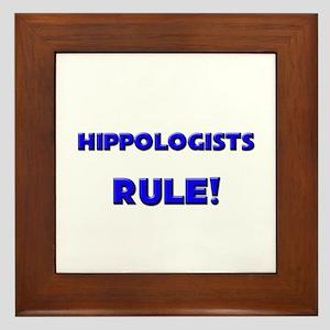 Hippologists Rule! Framed Tile