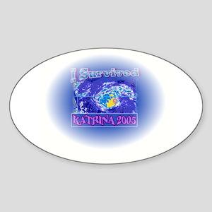 I survived Katrina 2005 Oval Sticker