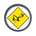 Playground Sign - Wall Clock