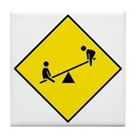 Playground Sign - Tile Coaster