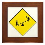 Playground Sign - Framed Tile