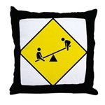 Playground Sign - Throw Pillow