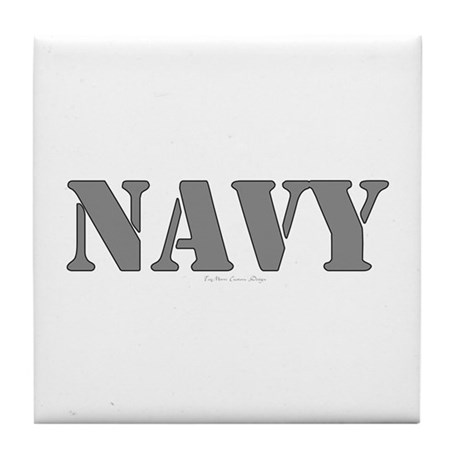 Navy Tile Coaster