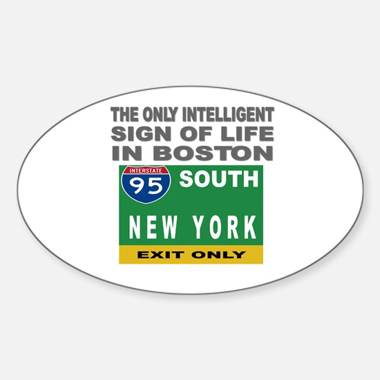 Boston Intelligence Oval Decal