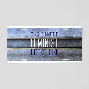 Feminist Aluminum License Plate