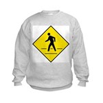 Pedestrian Crosswalk Sign Kids Sweatshirt