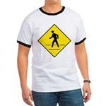 Pedestrian Crosswalk Sign Ringer T