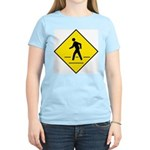 Pedestrian Crosswalk Sign Women's Pink T-Shirt