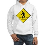 Pedestrian Crosswalk Sign Hooded Sweatshirt