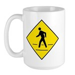 Pedestrian Crosswalk Sign - Large Mug