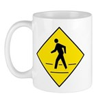 Pedestrian Crosswalk Sign - Mug