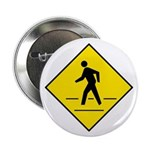 "Pedestrian Crosswalk Sign - 2.25"" Button (10 pack)"