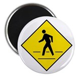 "Pedestrian Crosswalk Sign - 2.25"" Magnet (100 pack"