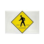 Pedestrian Crosswalk Sign - Rectangle Magnet (100
