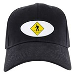 Pedestrian Crosswalk Sign - Black Cap