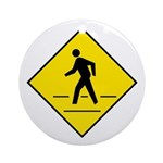 Pedestrian Crosswalk Sign - Keepsake (Round)