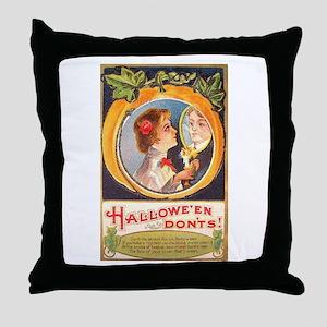 Halloween Don'ts Throw Pillow