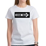 One Way Sign - Right - Women's T-Shirt