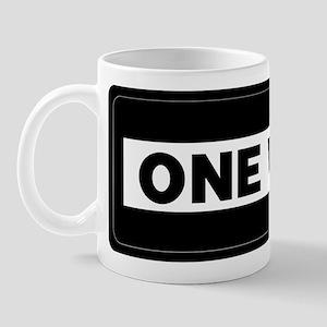 One Way Sign - Right - Mug