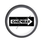 One Way Sign - Right - Wall Clock
