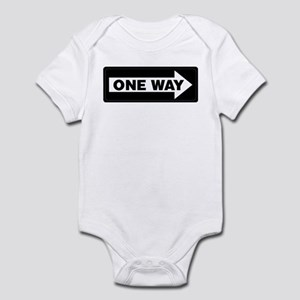 One Way Sign - Right - Infant Creeper