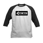 One Way Sign - Left - Kids Baseball Jersey