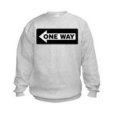 One Way Sign - Left - Sweatshirt