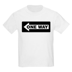 One Way Sign - Left - Kids T-Shirt