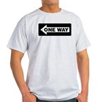 One Way Sign - Left - Ash Grey T-Shirt