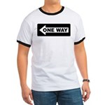 One Way Sign - Left - Ringer T