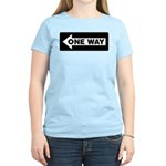 One Way Sign - Left - Women's Pink T-Shirt