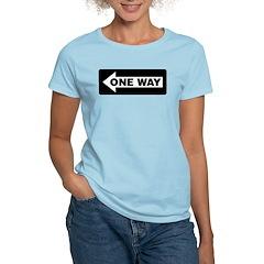One Way Sign - Left - Women's Pink T-Shirt