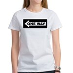 One Way Sign - Left - Women's T-Shirt