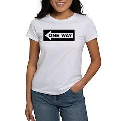 One Way Sign - Left - Women's T-Shirt