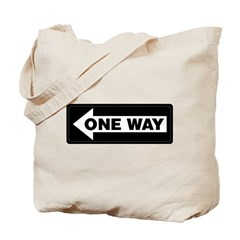 One Way Sign - Left - Tote Bag