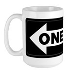 One Way Sign - Left - Large Mug