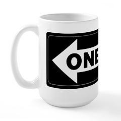 One Way Sign - Left - Large Mug