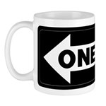One Way Sign - Left - Mug