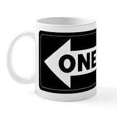 One Way Sign - Left - Mug